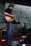 Stivín hrál na třetím Jazzfestu v Bechyni na svou oblíbenou trubku od toalety