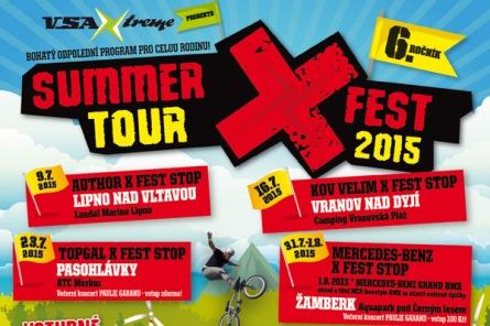 Šestý ročník Summer X Fest tour zavítá i na Lipno. Těšte se na extrémy i adrenalin