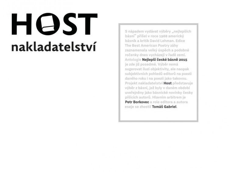 Nejlepší české básně 2015 dali dohromady Petr Borkovec a Tomáš Gabriel