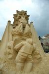 Sochy z písku zdobily Písek už podesáté. Sedmimetrový rytíř se změnil v anděla