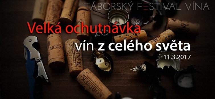 Soutěž o 20 vstupů na závěrečnou velkou degustaci Táborského festivalu vína 2017