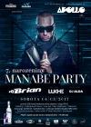 Soutěž o sedm VIP karet, sedm vstupů a drink pro sedm lidí na Manabe party v Apollu