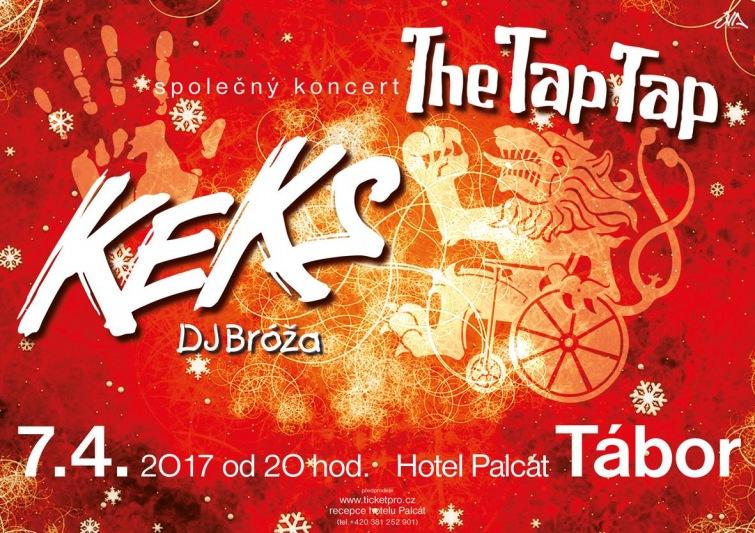 Soutěž o volné vstupy na Keks a The Tap Tap v Hotelu Palcát