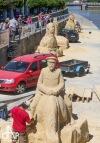 Písek čeká víkend plný kultury a zábavy. Pískoviště už zdobí sochy