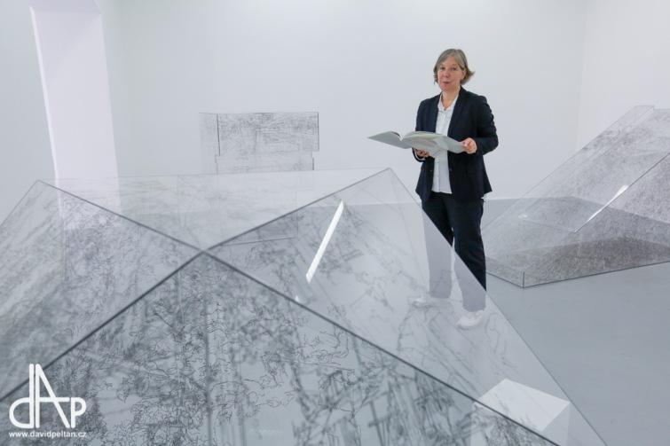Berlínská umělkyně Pia Linz je poprvé v ČR. V budějovickém Domě umění vystavuje Místa