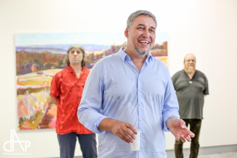 Krajina je pro mě boží dar, říká výtvarník Pavel Klíma. Výstavu můžete vidět v Galerii 4MAT