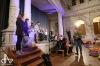 Herci se žáky základní školy zkoledovali sál táborské Střelnice