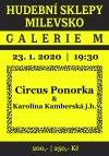 Circus Ponorka a Karolína Kamberská vystoupí na Hudebních sklepech v Milevsku