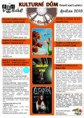 Program Veselského filmového klubu - květen 2016