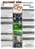 Program Kulturního domu Veselí n. L. - červenec 2016