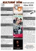 Program Kulturního domu Veselí nad Lužnicí - říjen 2016