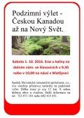 Podzimní výlet Českou Kanadou až na Nový Svět