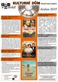 Program Veselského filmového klubu a Kulturního domu Veselí n. L. - leden 2017