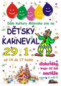 Dětský karneval v Milevsku