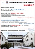 Prácheňské muzeum v Písku - program únor 2017