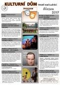Program Kulturního domu Veselí nad Lužnicí na měsíc březen 2017