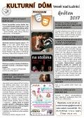 Program Kulturního domu Veselí nad Lužnicí na měsíc květen 2017