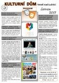 Program Kulturního domu Veselí nad Lužnicí - červen 2017