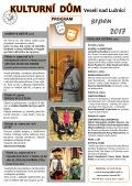 Program Kulturního domu Veselí nad Lužnicí - srpen 2017
