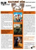 Program Veselského filmového klubu Kulturního domu Veselí nad Lužnicí - srpen 2017