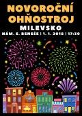 Novoroční ohňostroj v Milevsku