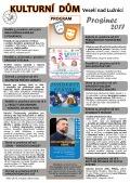 Program Kulturního domu Veselí nad Lužnicí - prosinec 2017
