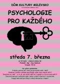 Diskusně vzdělávací večer - Psychologie pro každého