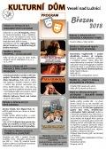 Program Kulturního domu Veselí nad Lužnicí - březen 2018