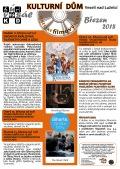 Program Veselského filmového klubu Kulturního domu Veselí nad Lužnicí - březen 2018
