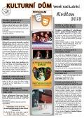 Program Kulturního domu Veselí nad Lužnicí - květen 2018
