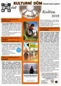 Program Veselského filmového klubu Kulturního domu Veselí nad Lužnicí - květen 2018