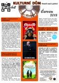Program Veselského filmového klubu Kulturního domu Veselí nad Lužnicí - červen 2018