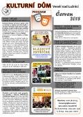 Program Kulturního domu Veselí nad Lužnicí - červen 2018