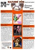 Program Veselského filmového klubu Kulturního domu Veselí nad Lužnicí - červenec a srpen 2018
