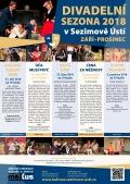 Divadelní sezóna v Sezimově Ústí 2018 září - prosinec