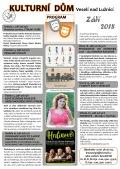 Program Kulturního domu Veselí nad Lužnicí - září 2018