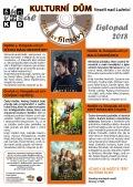 Program Veselského filmového klubu Kulturního domu Veselí nad Lužnicí - listopad 2018