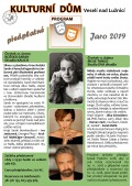 Divadelní předplatné Jaro 2019 Kulturní dům Veselí nad Lužnicí