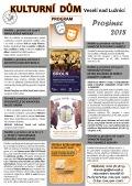Program Kulturního domu Veselí nad Lužnicí - prosinec 2018