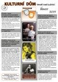 Program Kulturního domu Veselí nad Lužnicí - únor 2019