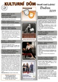 Program Kulturního domu Veselí nad Lužnicí - duben 2019