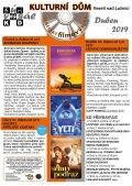 Program Veselského filmového klubu Kulturního domu Veselí nad Lužnicí - duben 2019