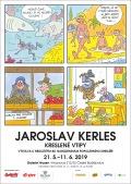 Plakát k výstavě Jaroslava Kerlese Kreslené vtipy v GH