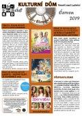 Program Veselského filmového klubu Kulturního domu Veselí nad Lužnicí - červen 2019