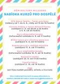 Nabídka kurzů pro dospělé v DK Milevsko