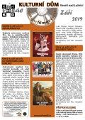 Program Veselského filmového klubu Kulturního domu Veselí nad Lužnicí - září 2019