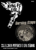 Kung-fu girlz a Burning Steps @ U Zlatého Lva Tábor