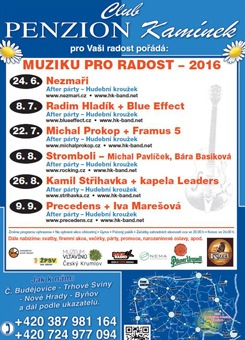 Penzion Kamínek - Muzika pro radost 2016