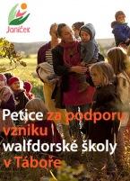 Petice za podporu vzniku walfdorské školy v Táboře